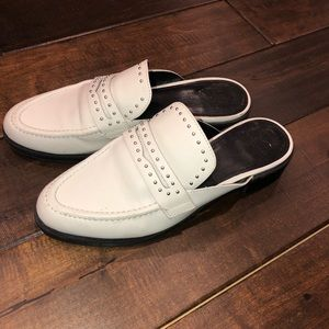 Women's size 7.5 white Marc Fisher slip on loafers
